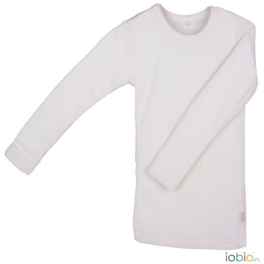 Iobio - langærmet t-shirt - uld & silke GOTS - natur