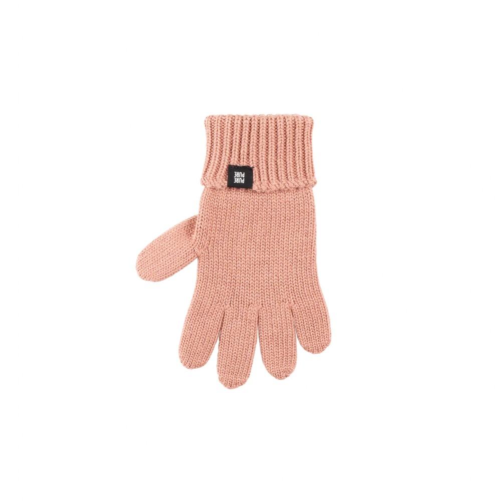 Pure Pure - fingerhandsker - uld/silke/bomuld - støvet rosa