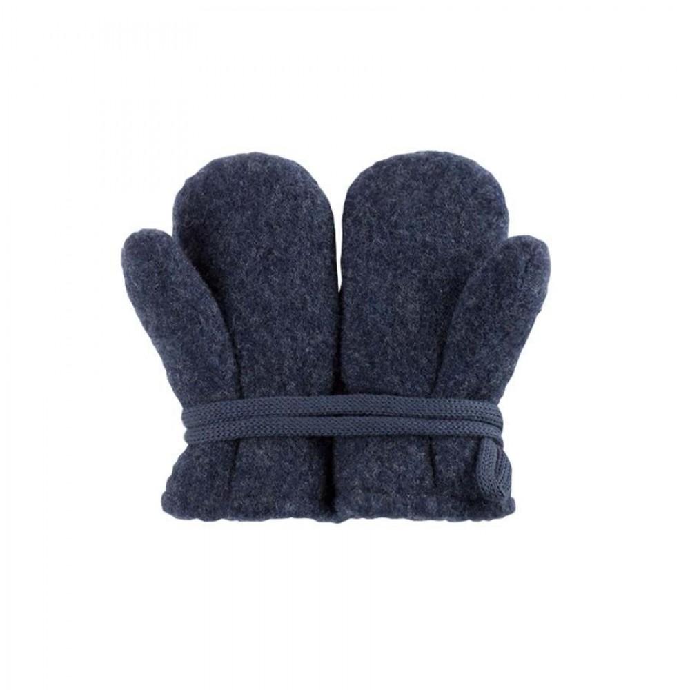 Pure Pure - vanter - økologisk uldfleece - jeansblue