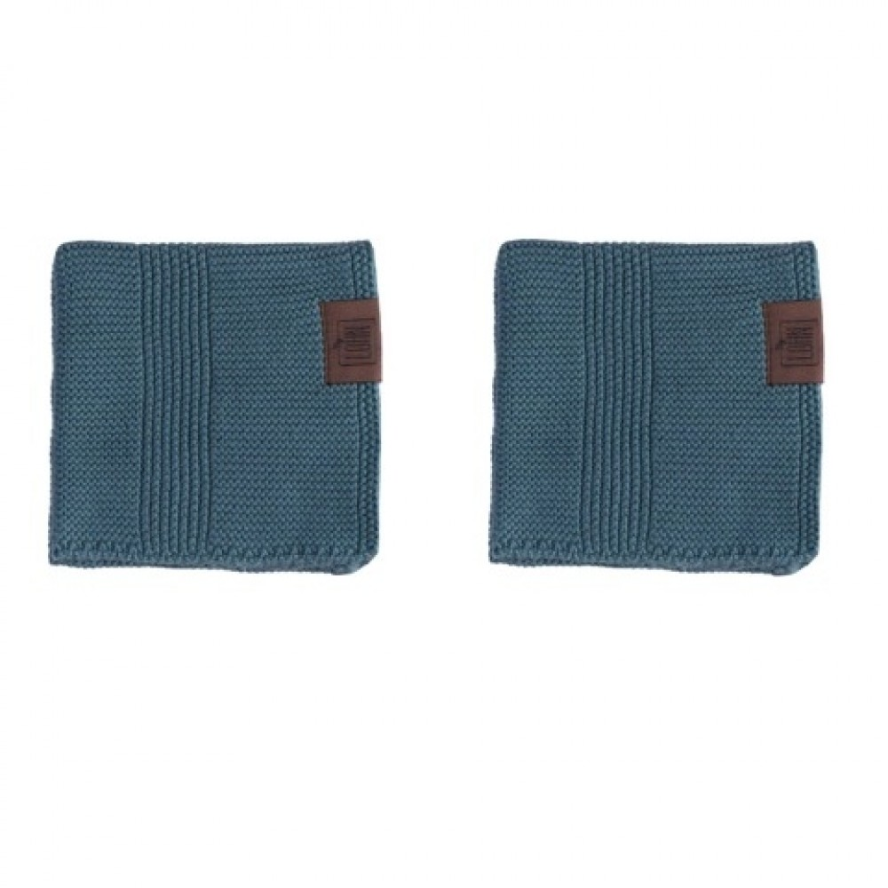 By Lohn - all round cloth - 25x25 cm. - 2 stk. - petrol
