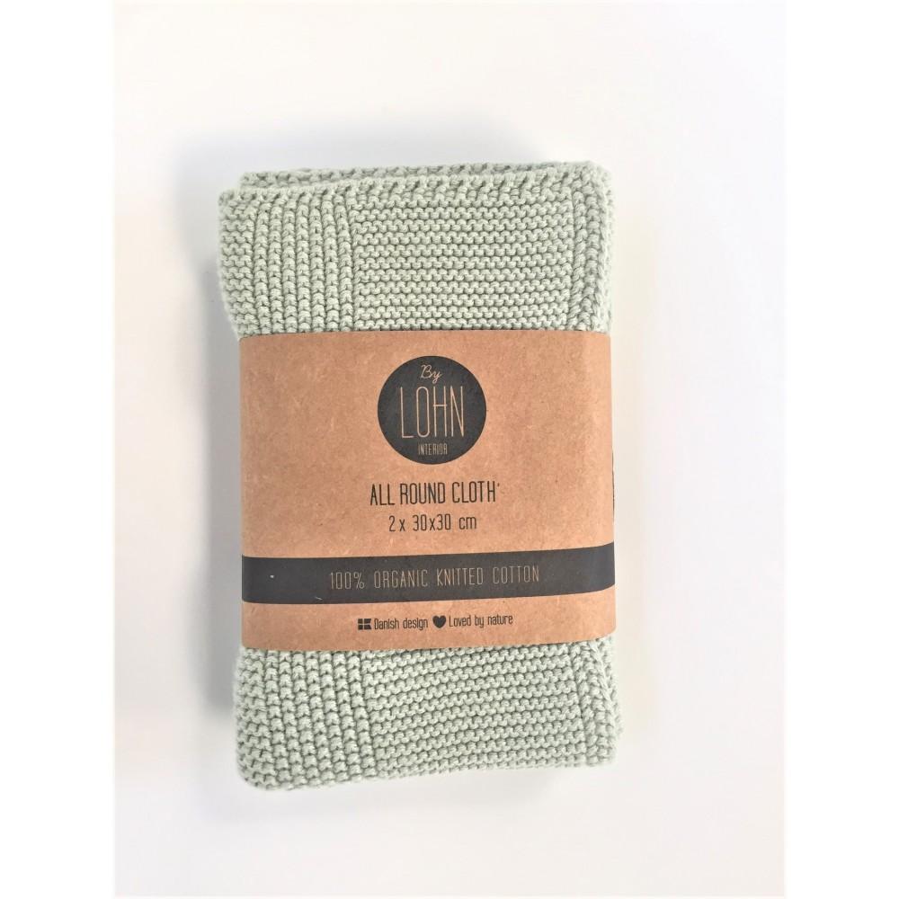By Lohn - all round cloth - 30x30 cm. - 2 stk. - light mint