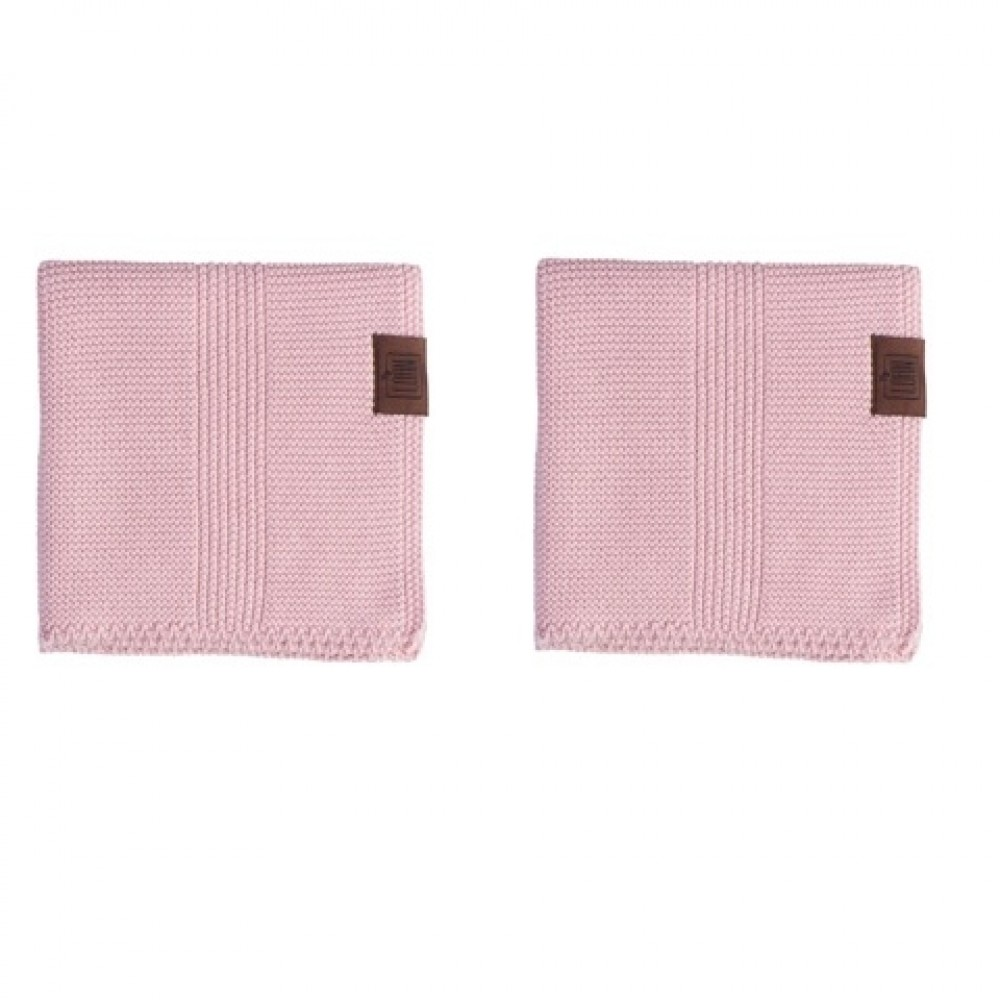 By Lohn - all round cloth - 30x30 cm. - 2 stk. - light pink
