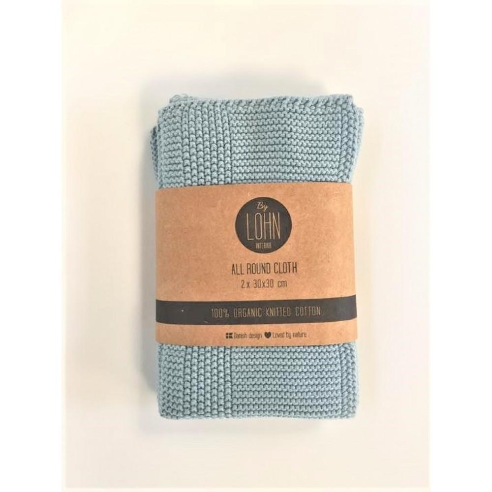 By Lohn - all round cloth - 30x30 cm. - 2 stk. - powder blue