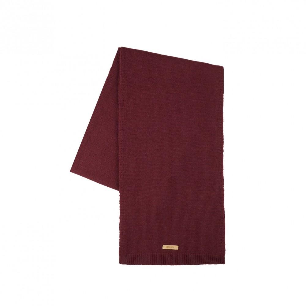 Pure Pure - halstørklæde - merinould & kashmir - bordeaux
