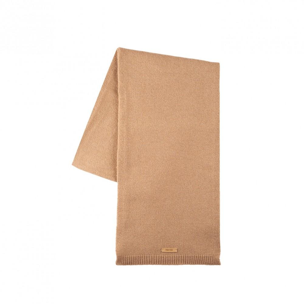 Pure Pure - halstørklæde - merinould & kashmir - camel