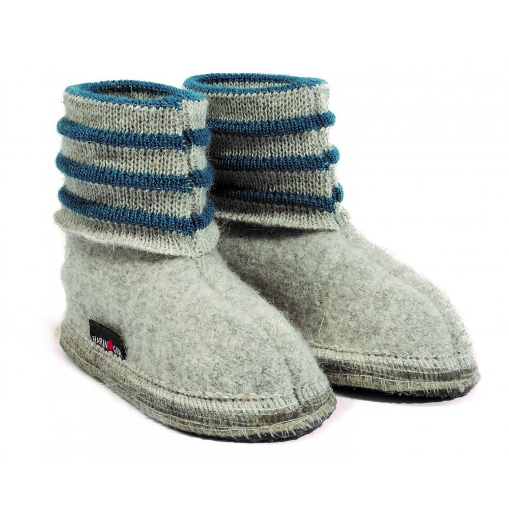 Haflinger - indesko - Linea - uld - grå melange