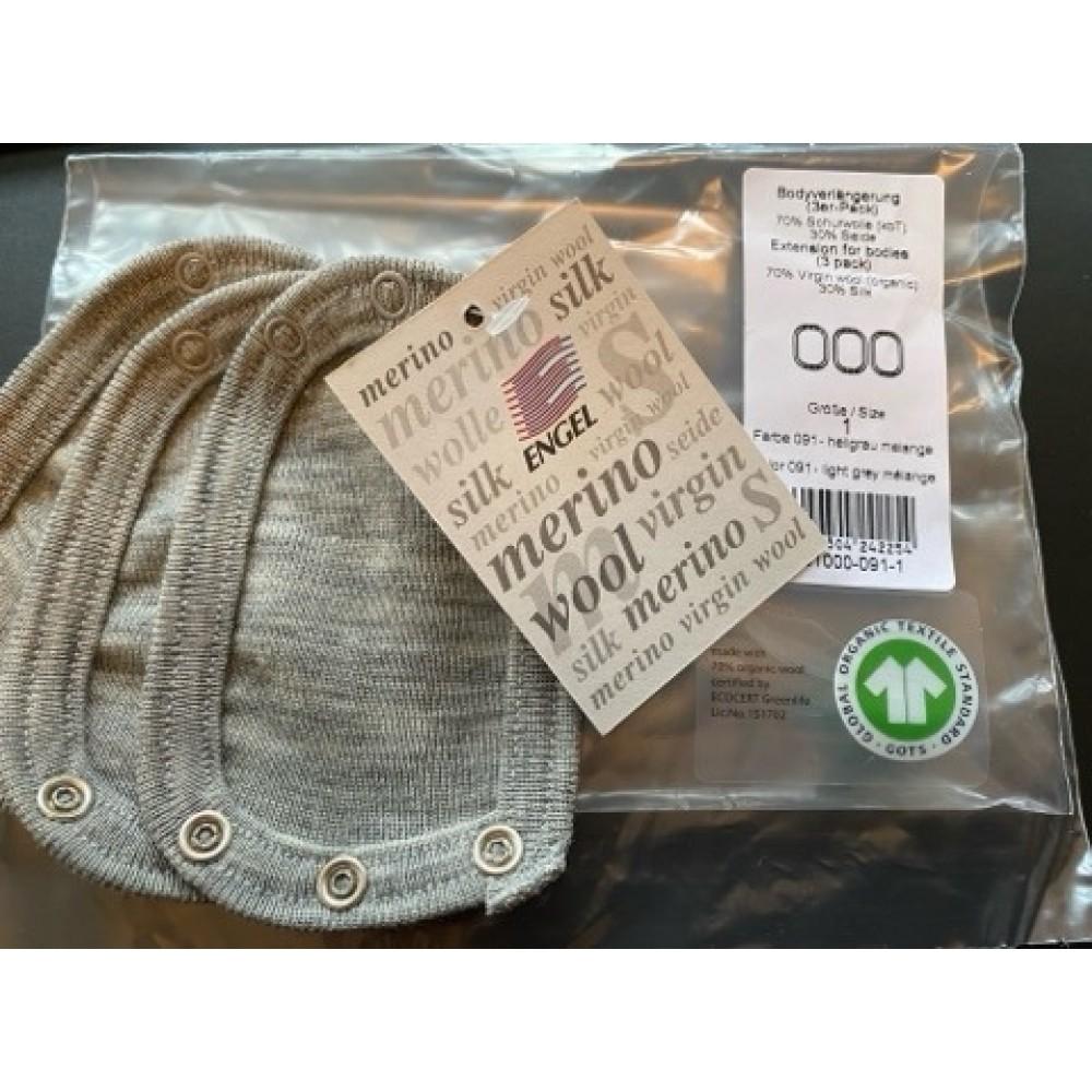 Engel Natur - bodyforlænger - uld & silke - pakke med 3 stk.