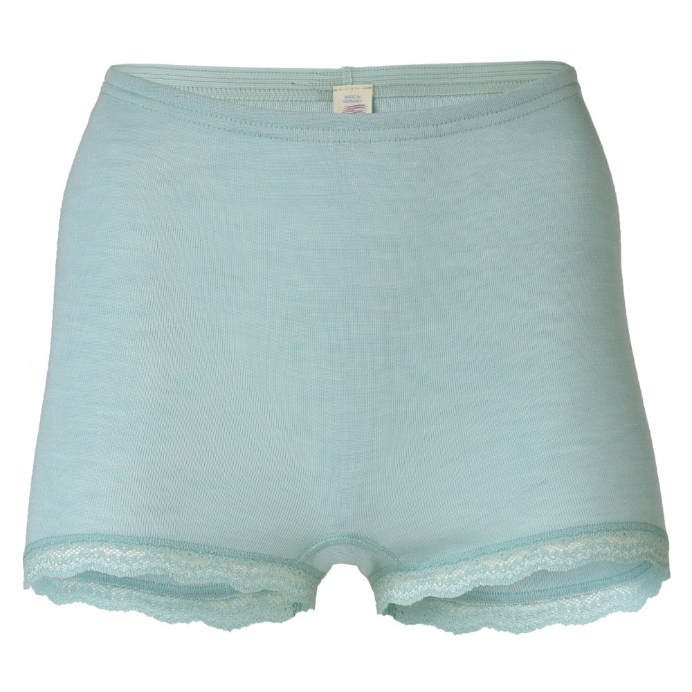 Engel - dame hotpants med blonde - uld & silke - mint