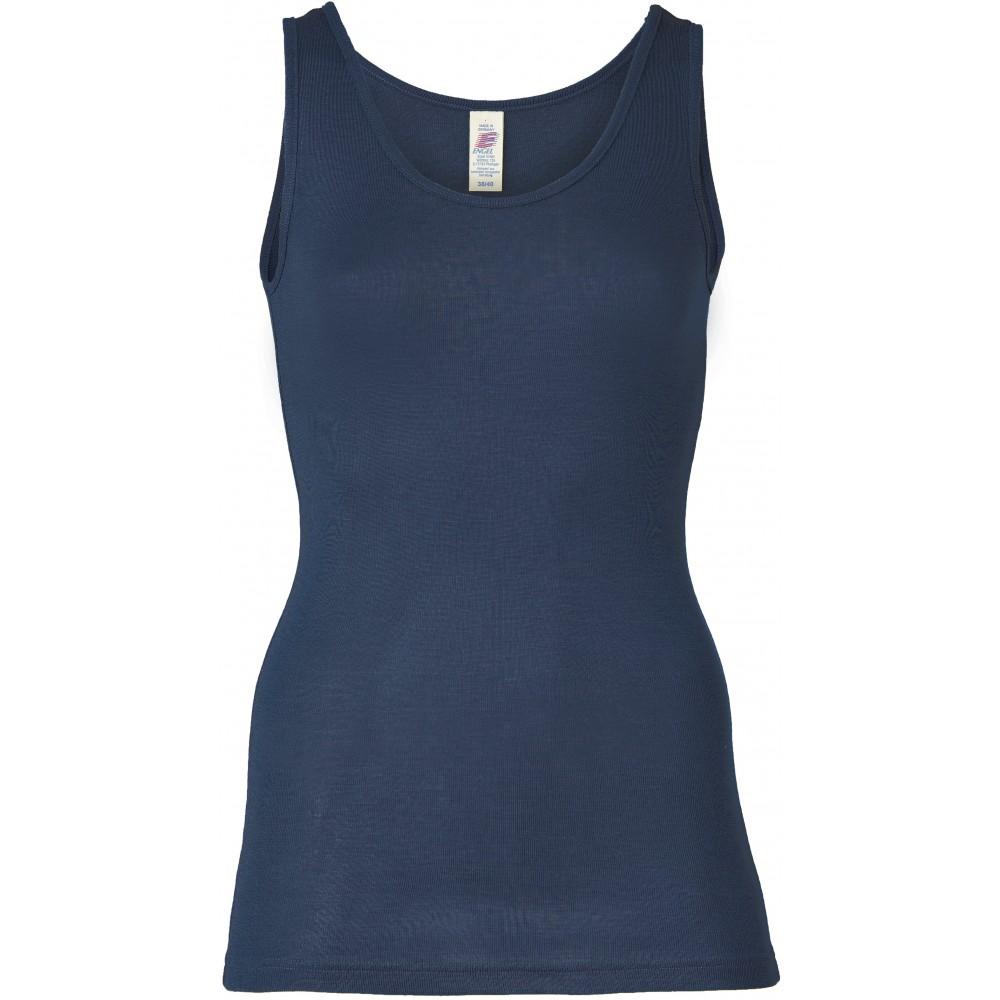 Engel - dame undertrøje - uld & silke - marineblå