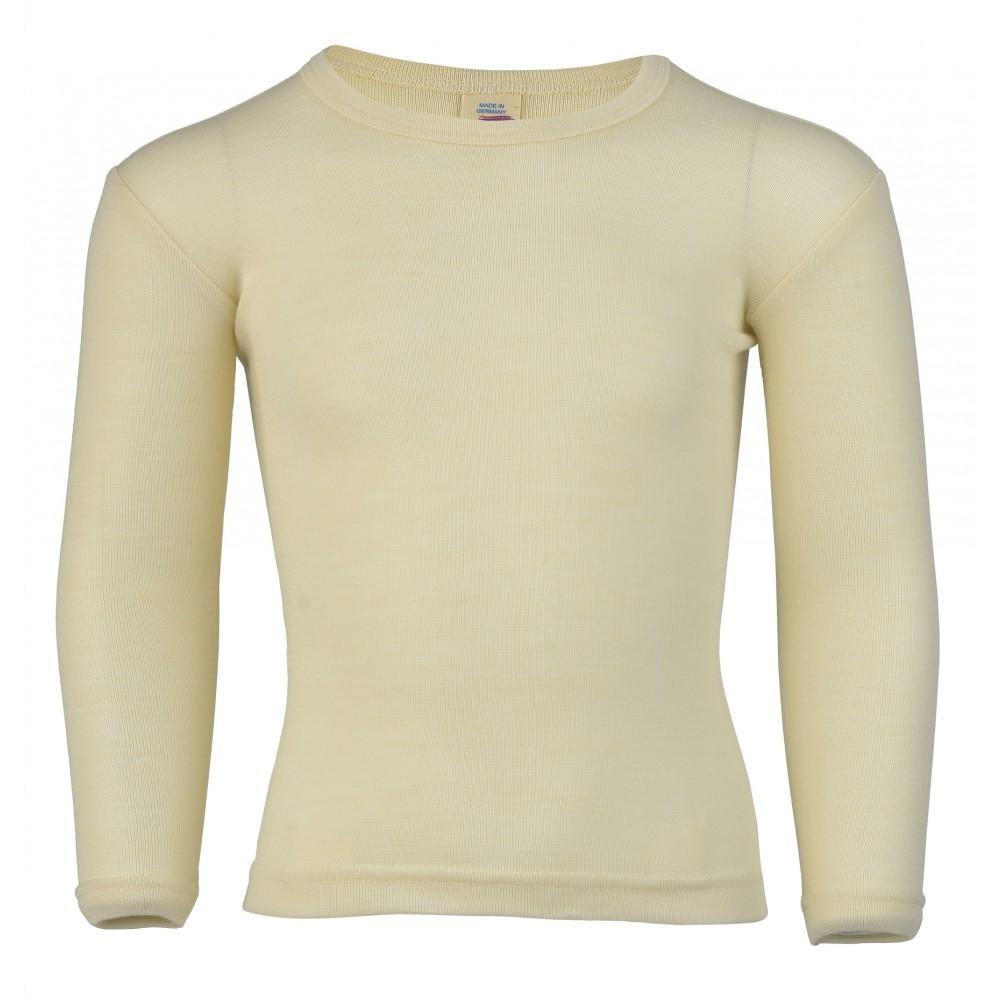 Engel - langærmet bluse - uld & silke - natur