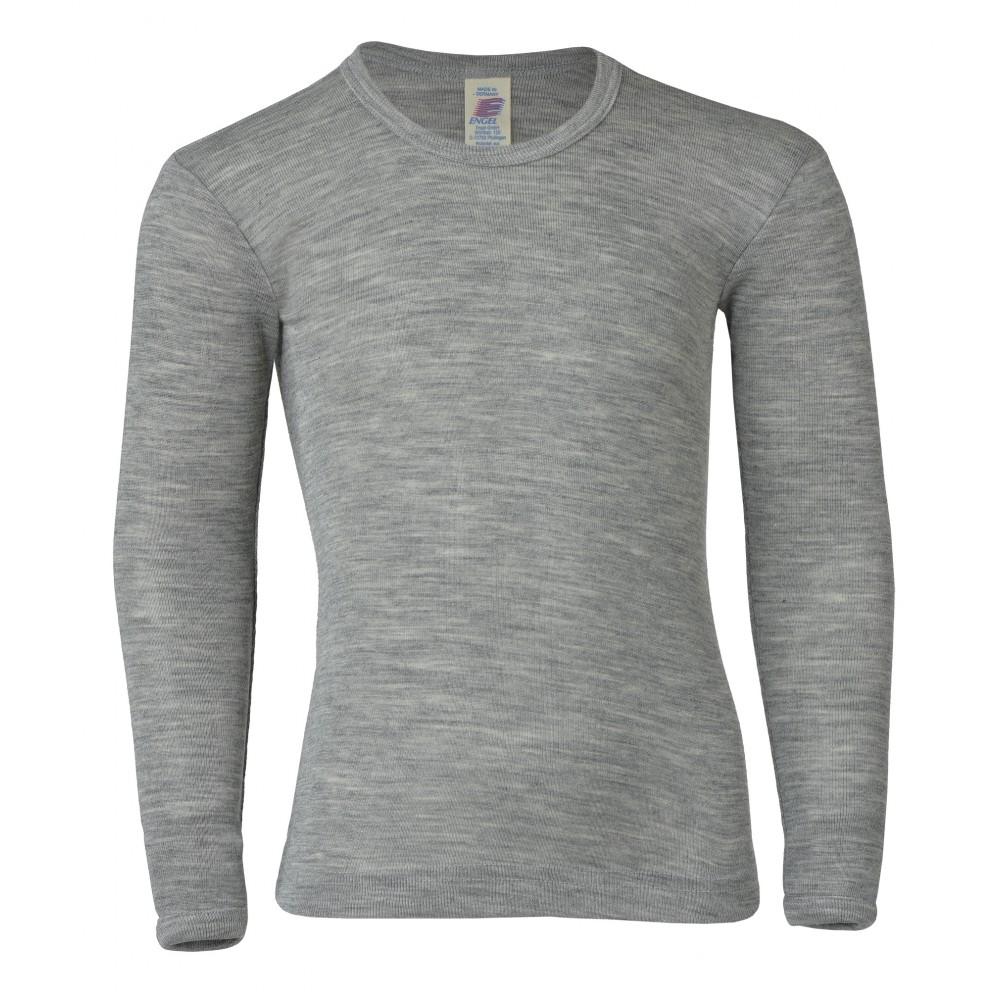 Engel - langærmet bluse - uld & silke - grå