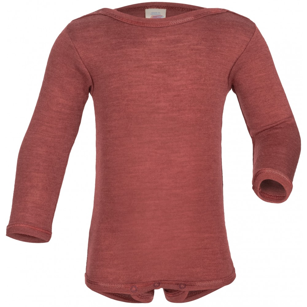 Engel | langærmet body | uld & silke |kobber