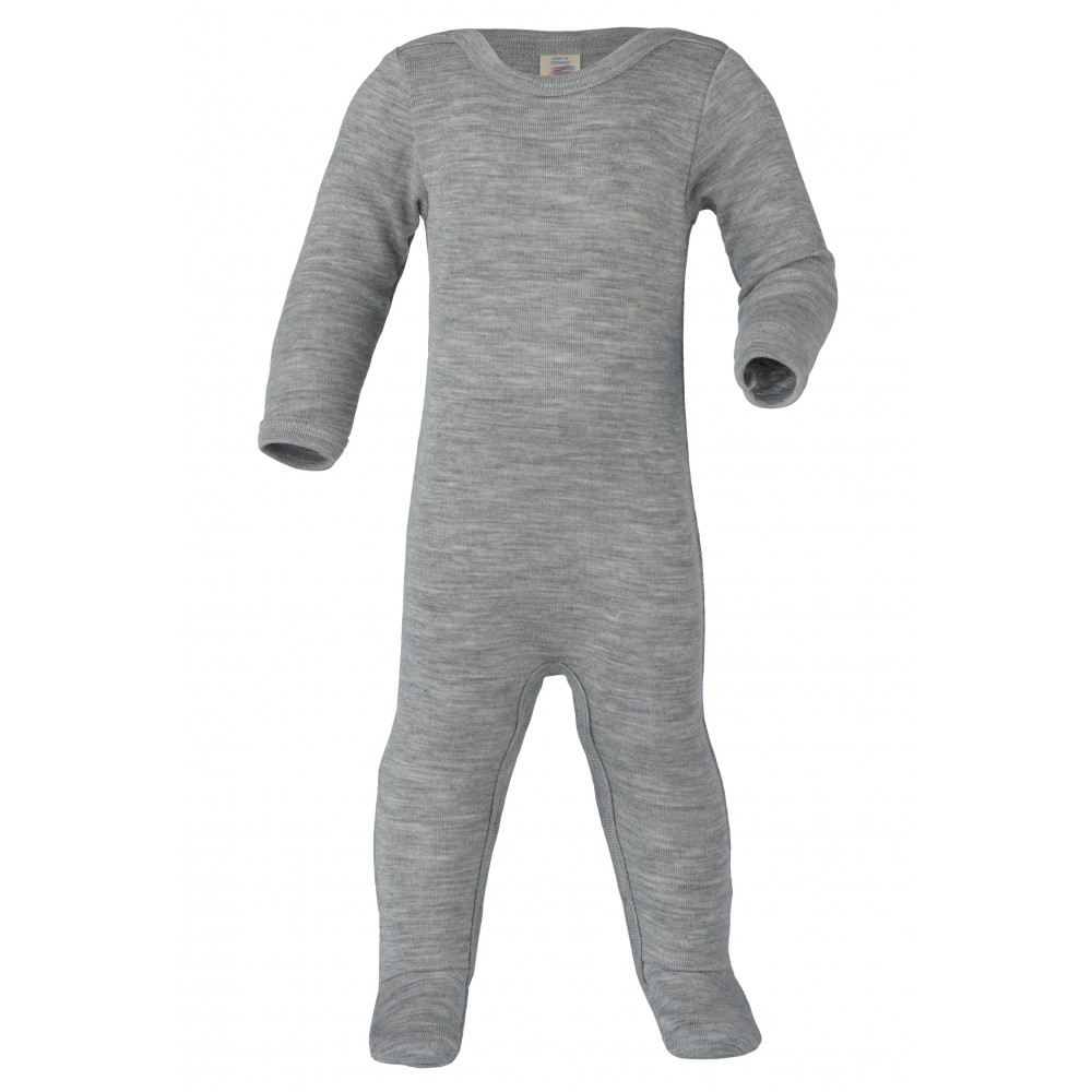 Engel - heldragt - uld & silke - grå