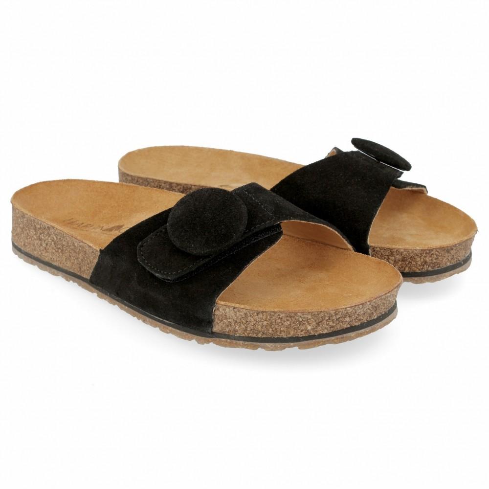Haflinger - sandaler - Bio Gina - sort