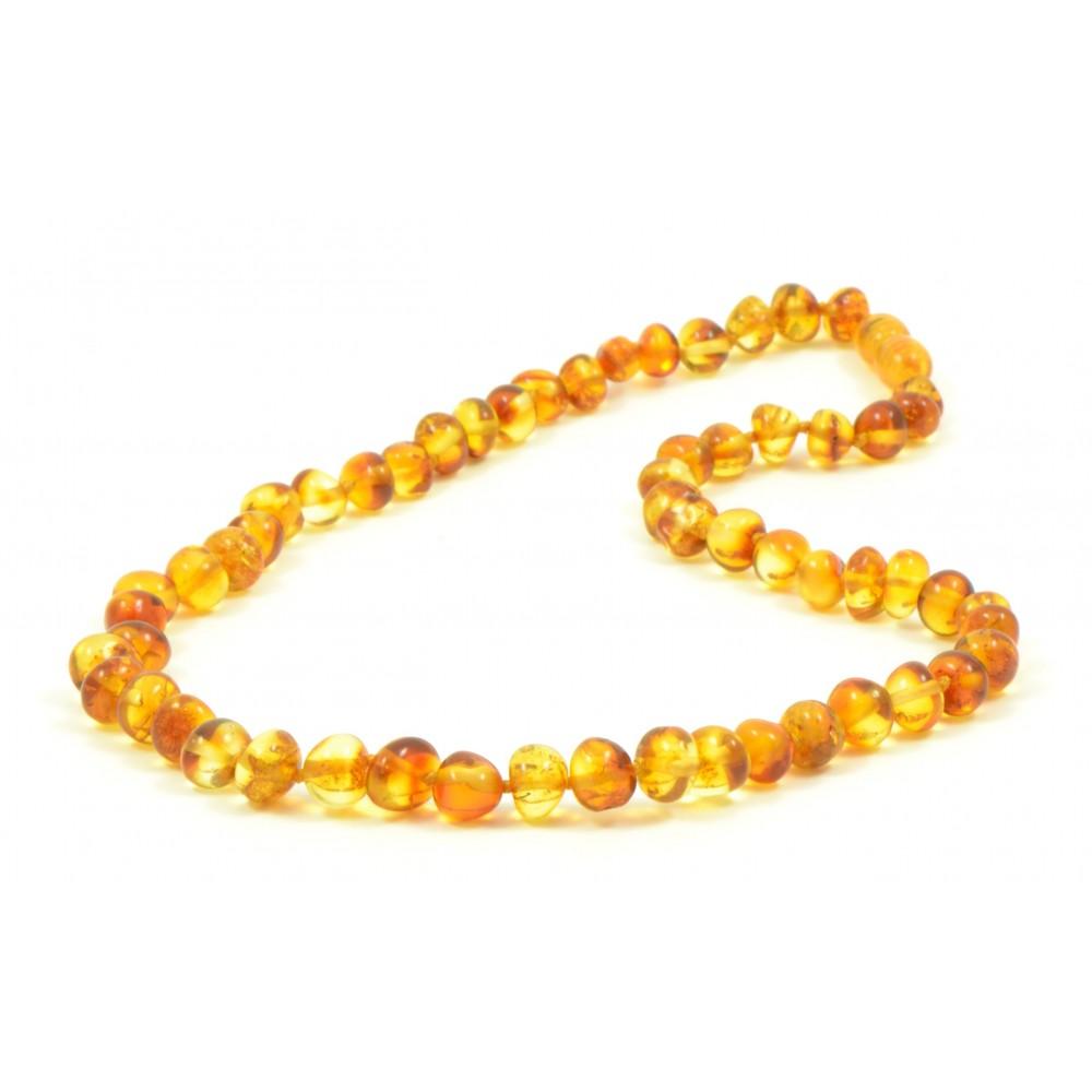 Rav halskæde - voksen - honey - polerede