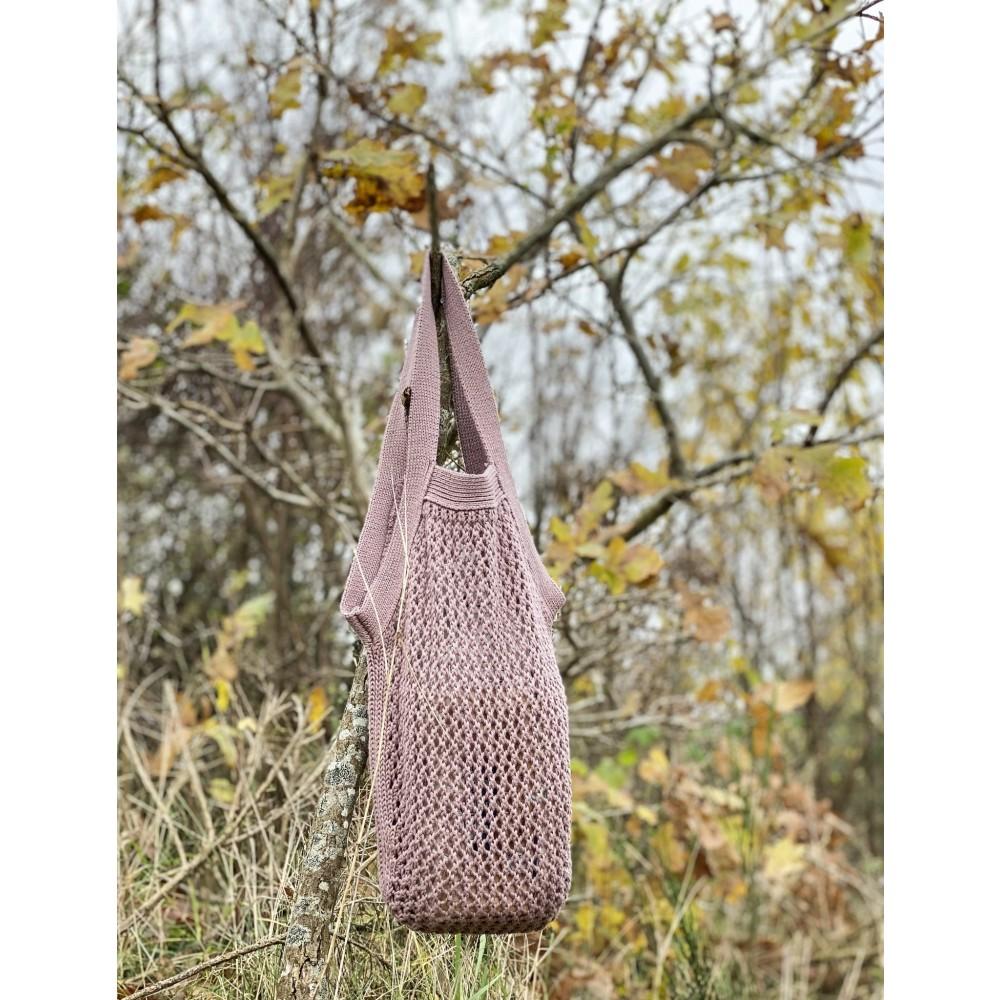 By Lohn - knitted tote bag - desert rose