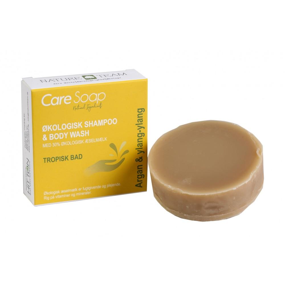 Care Soap - økologisk shampoo bar - argan og ylang-ylang