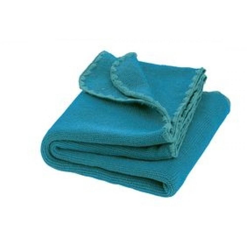 DISANA - babytæppe - økologisk uld - blue/lagoon melange