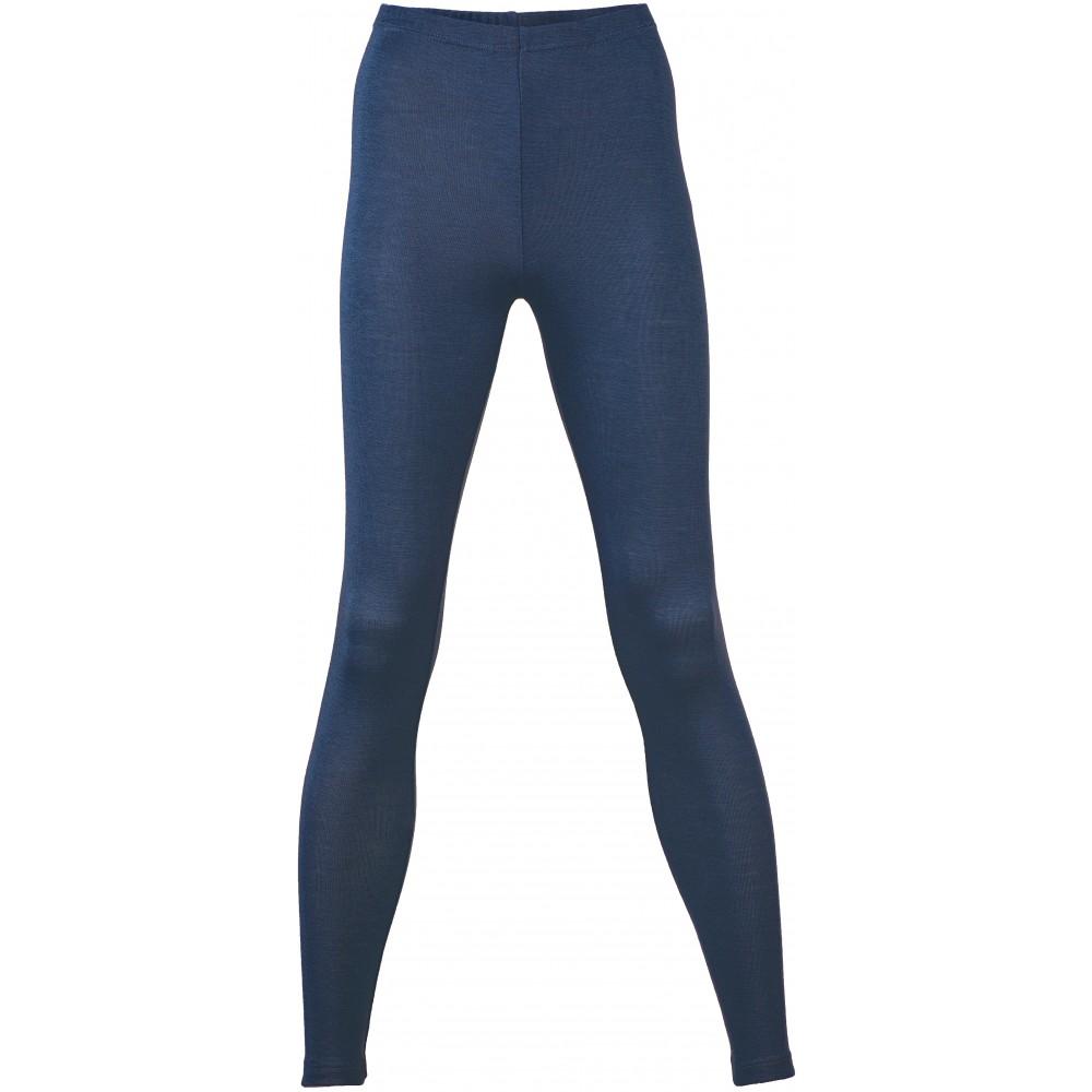 Engel - dame leggings - uld & silke - marineblå