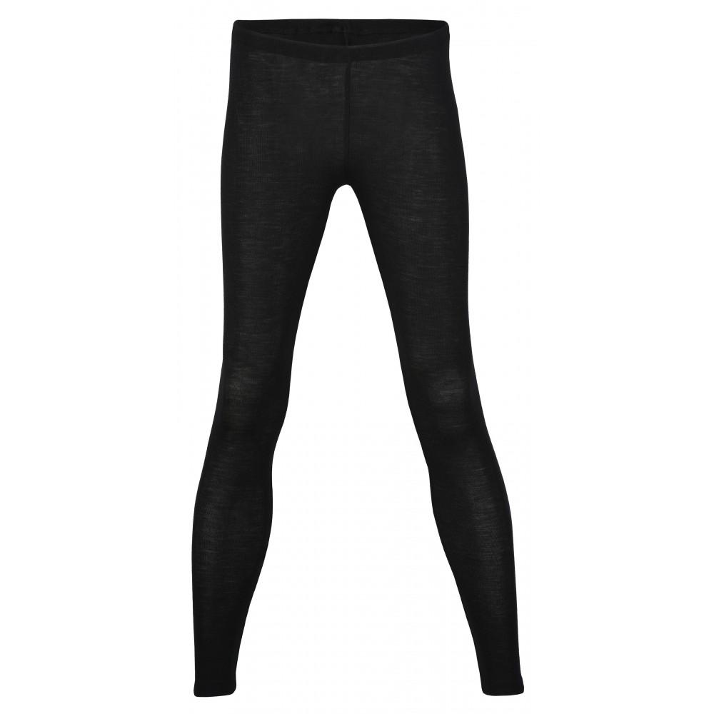 Engel - dame leggings - uld & silke - sort