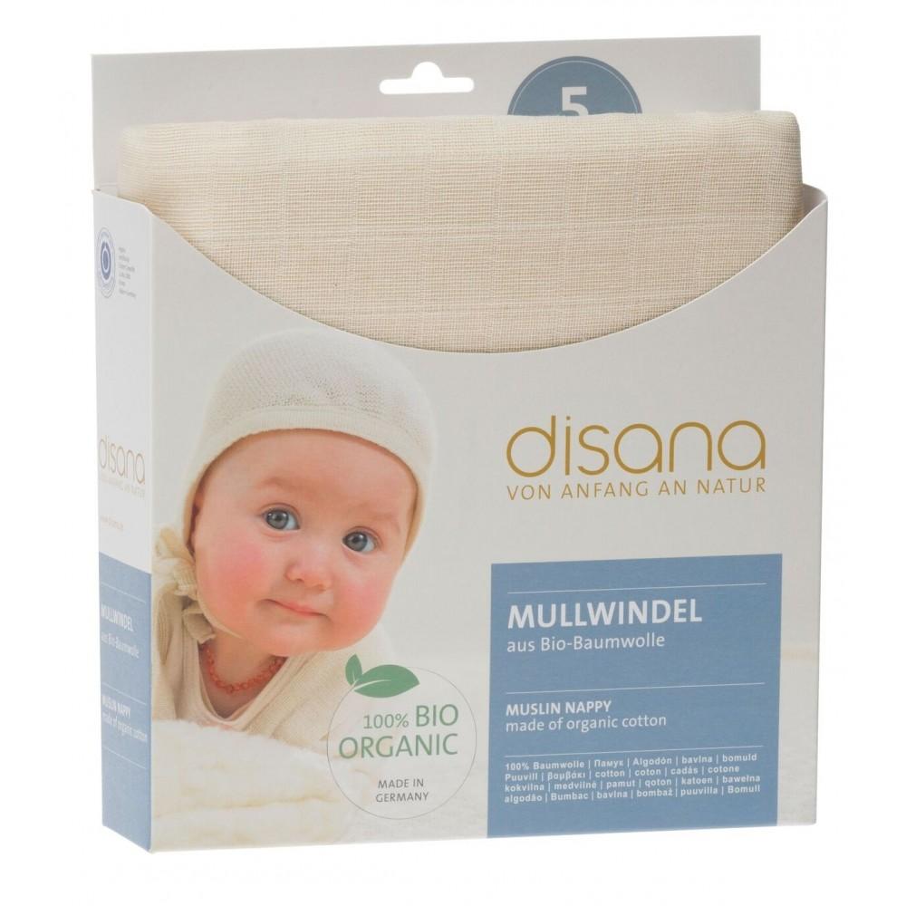 DISANA - økologiske stofbleer/gylpeklude - 5 stk.