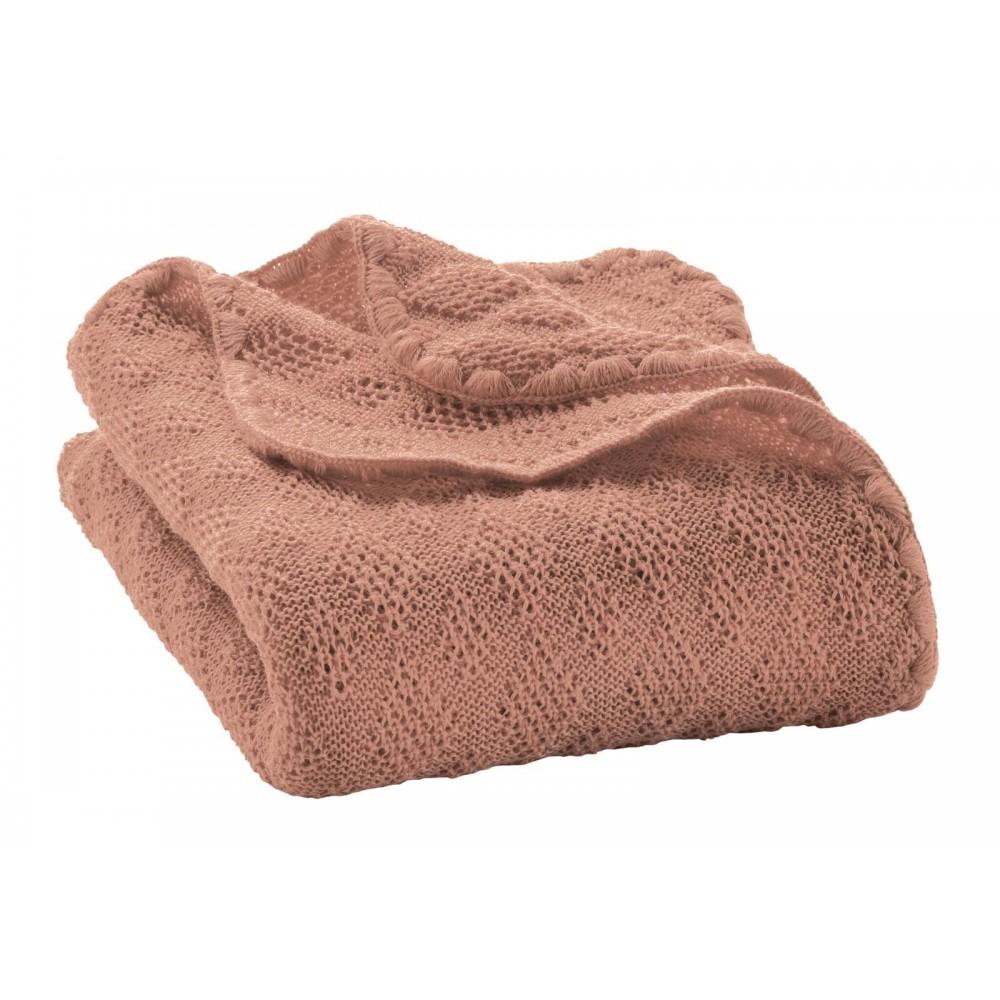 DISANA - babytæppe - økologisk uld - rosé