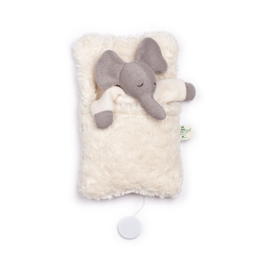 Nanchen - elefant i sovepose med godnat musik