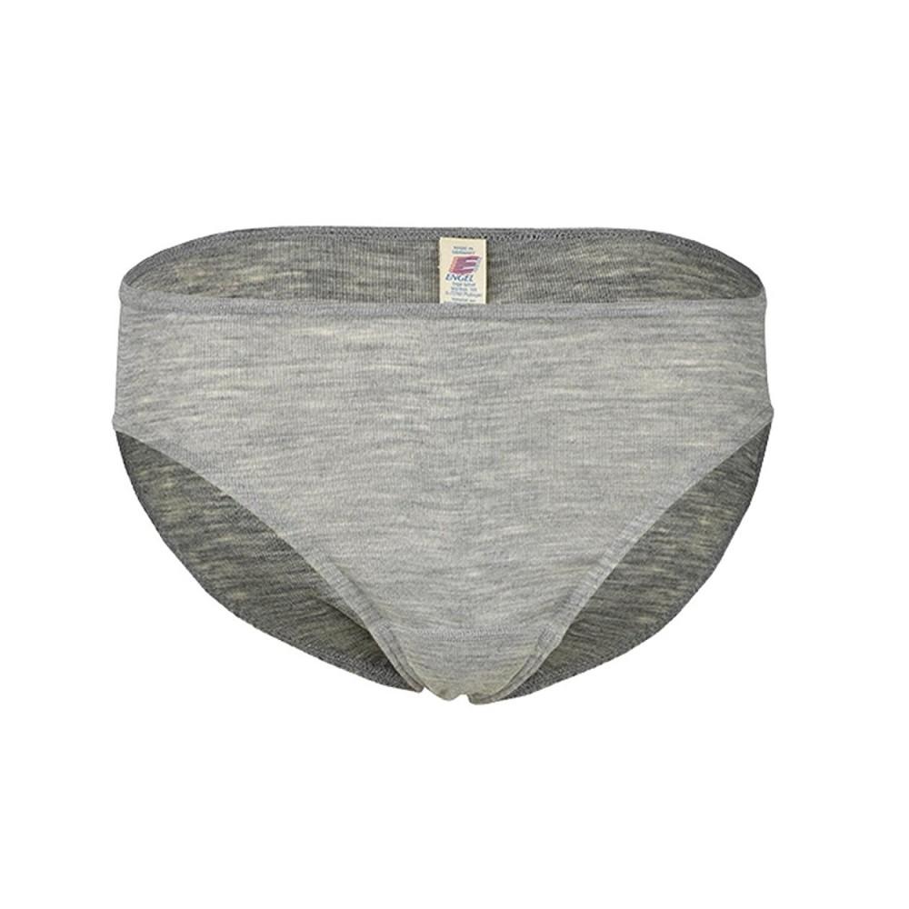 Engel - dame trusser - uld & silke - grå melange