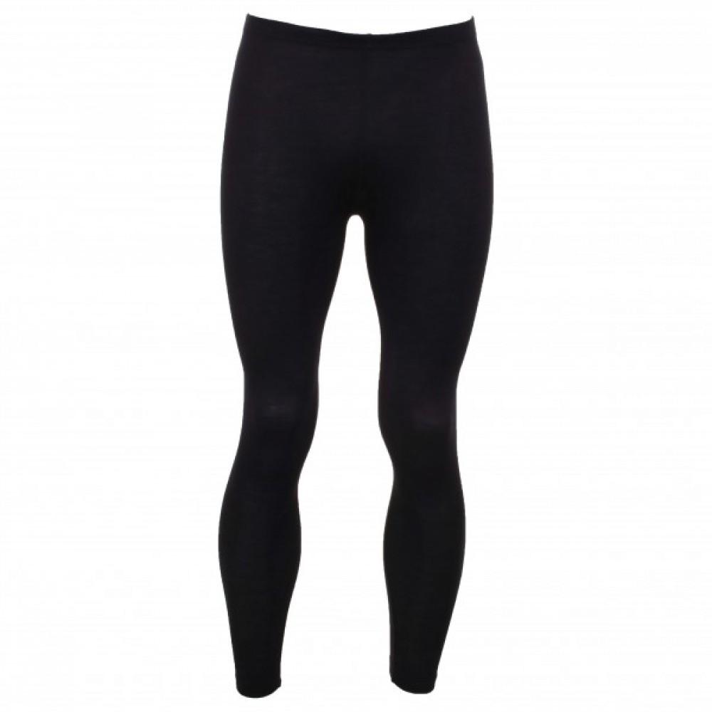 Engel - herre leggings i økologisk uld & silke - sort