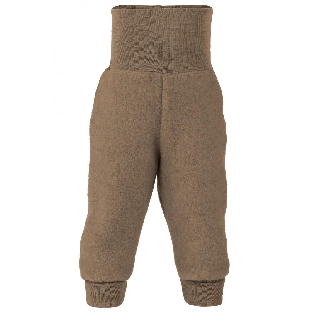 Engel - bukser i økologisk uldfleece - valnød