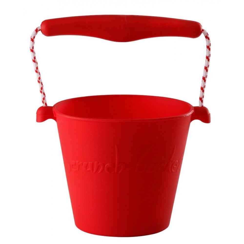 Scrunch-bucket - foldbar spand - masser af farver-Rød