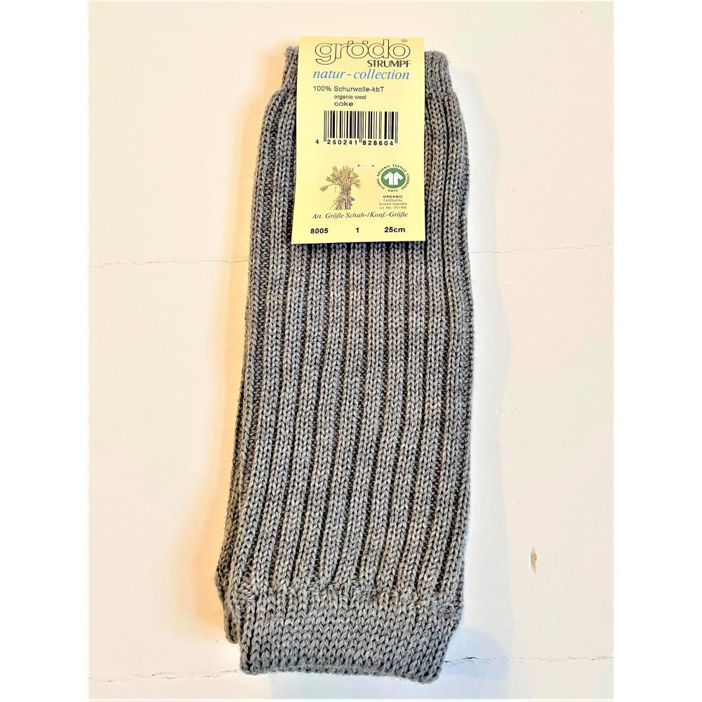 Grödo - benvarmere - børn - økologisk uld - 25 cm. - grå