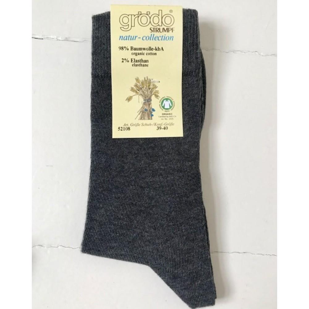 Grödo - strømper unisex - økologisk bomuld - grå