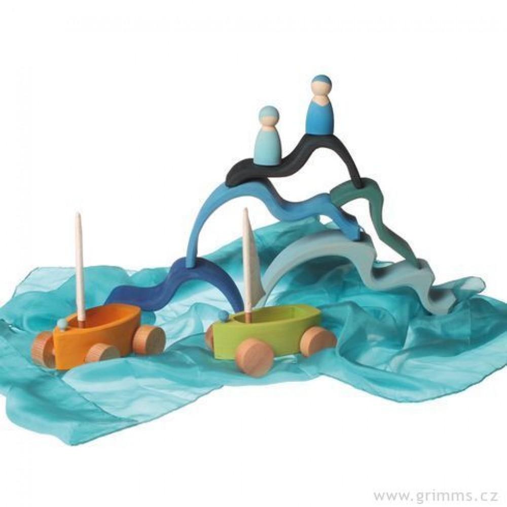 Grimms - vand - 6 blå bølger