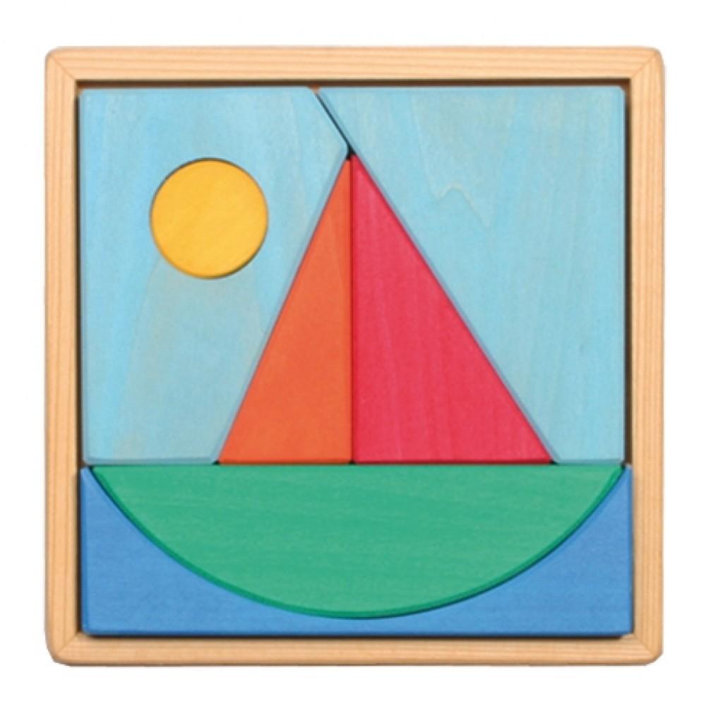 Grimms - puslespil 7 dele - båd