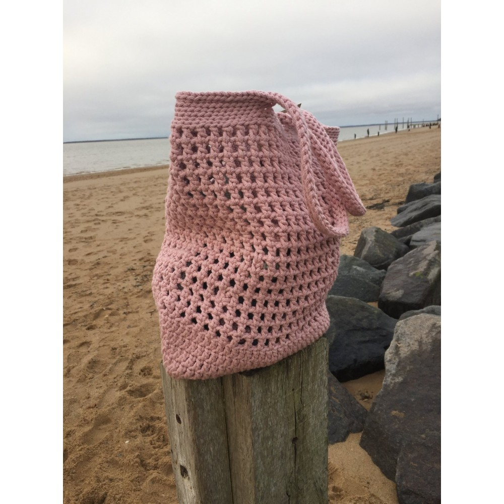 By Lohn - handmade Crochet Bag - light pink