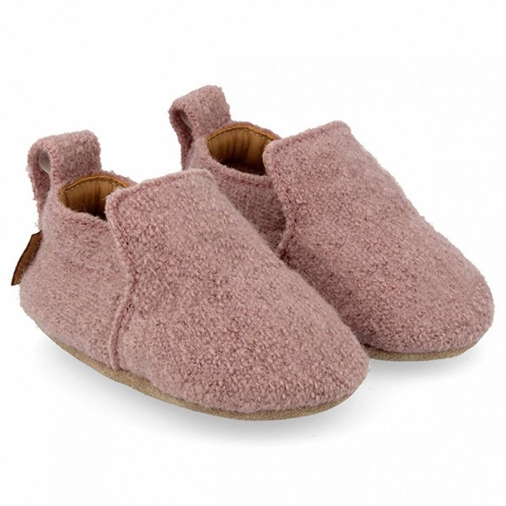 Haflinger - indesko - uld - Hafli - støvet rosa