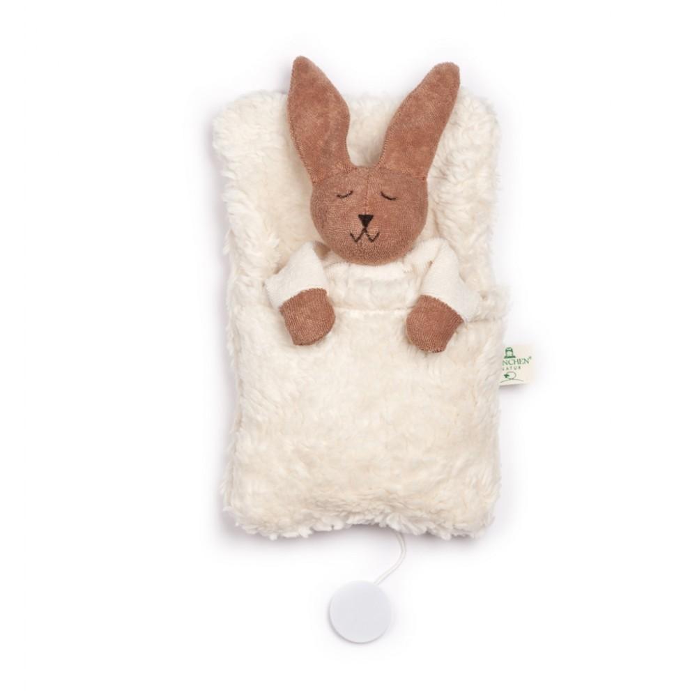 Nanchen - kanin i sovepose med godnat musik