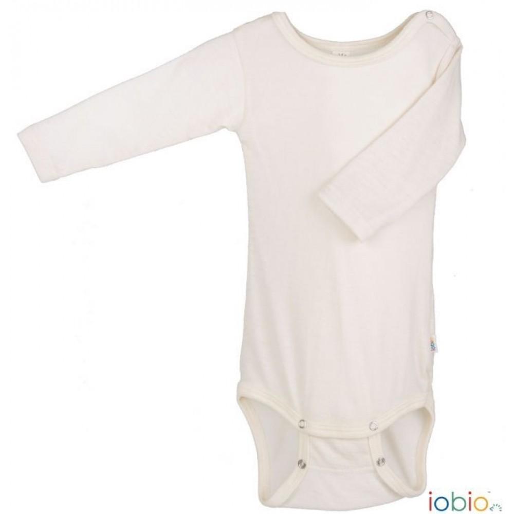 Iobio - langærmet body - uld & silke GOTS - natur