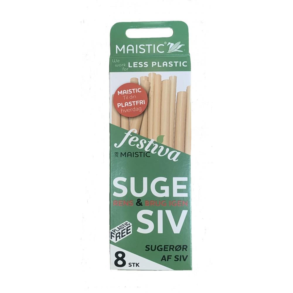 Maistic Bio Group - sugerør - siv - 8 stk.