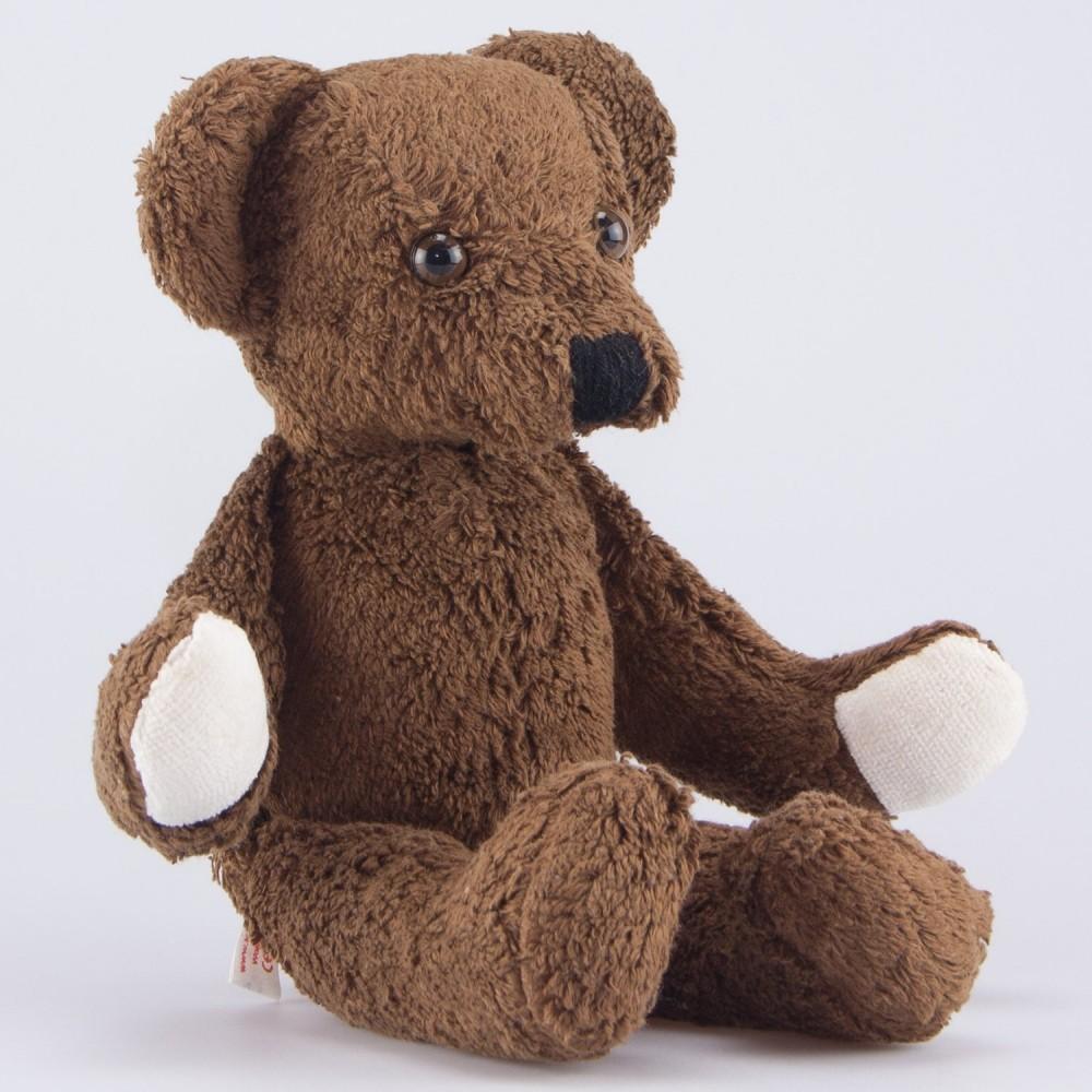 Kallisto - økologisk bamse - klassisk mørkebrun bjørn - 32 cm.