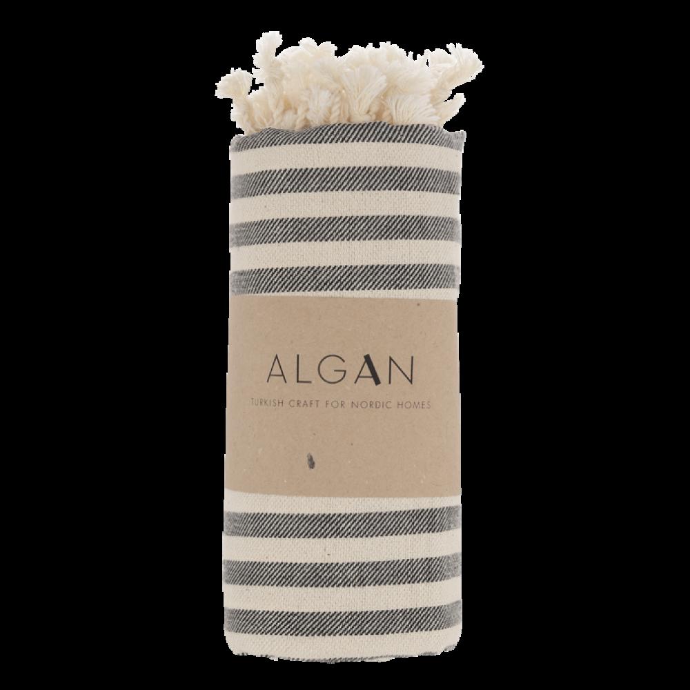Algan - Kavun badehåndklæde - 85x180 cm. - sort
