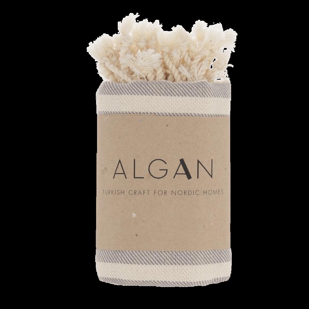 Algan - Kavun gæstehåndklæde - 45x90 cm. - grå