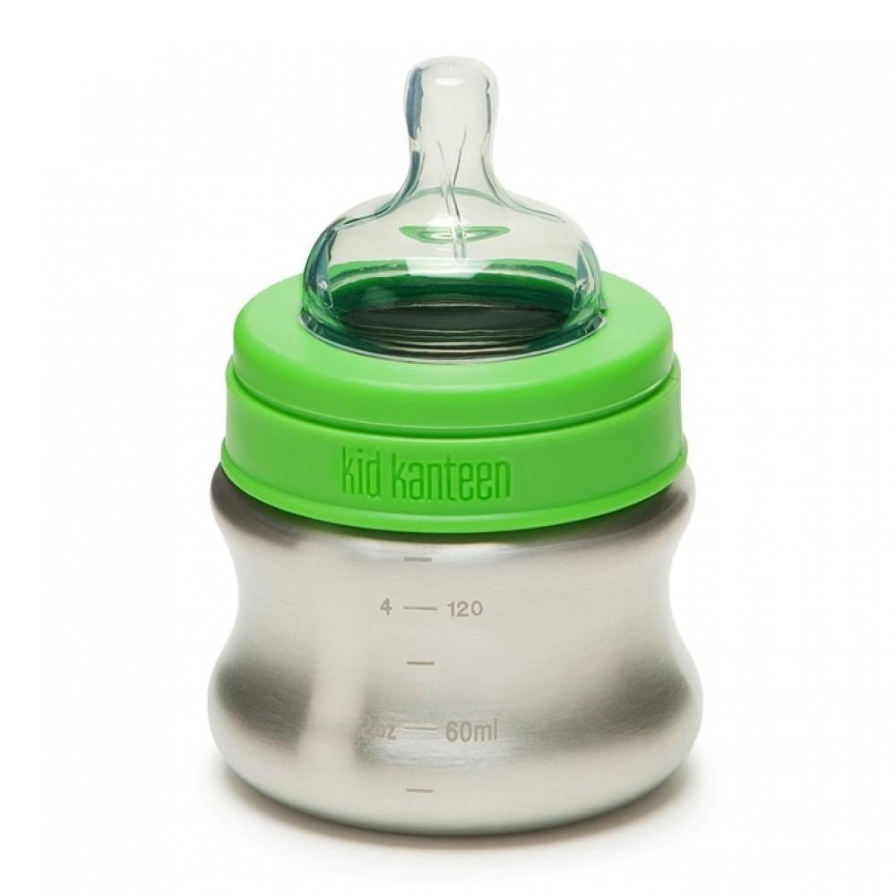 Klean Kanteen - sutteflaske i stål - 148 ml.