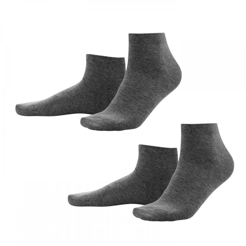 Living Crafts - 2-pak sneakers strømper - herre - grå