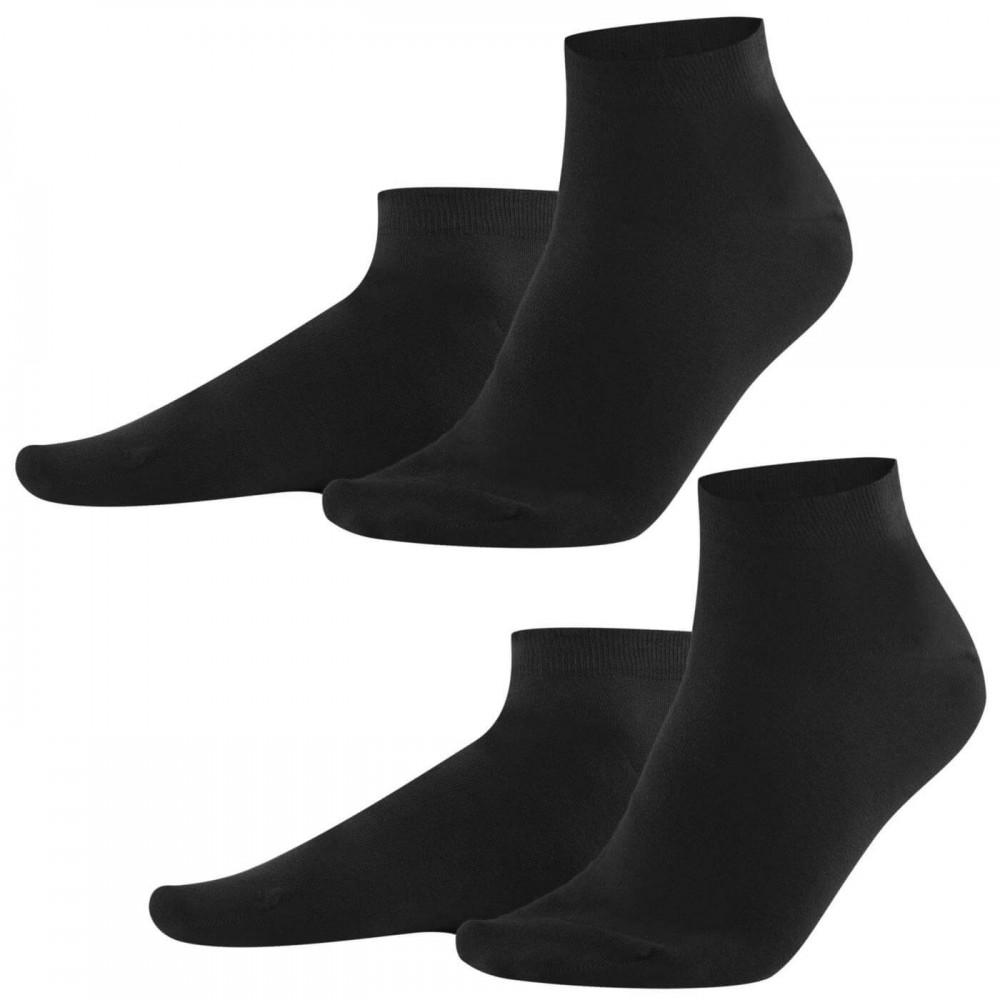 Living Crafts - 2-pak sneakers strømper - herre - sort