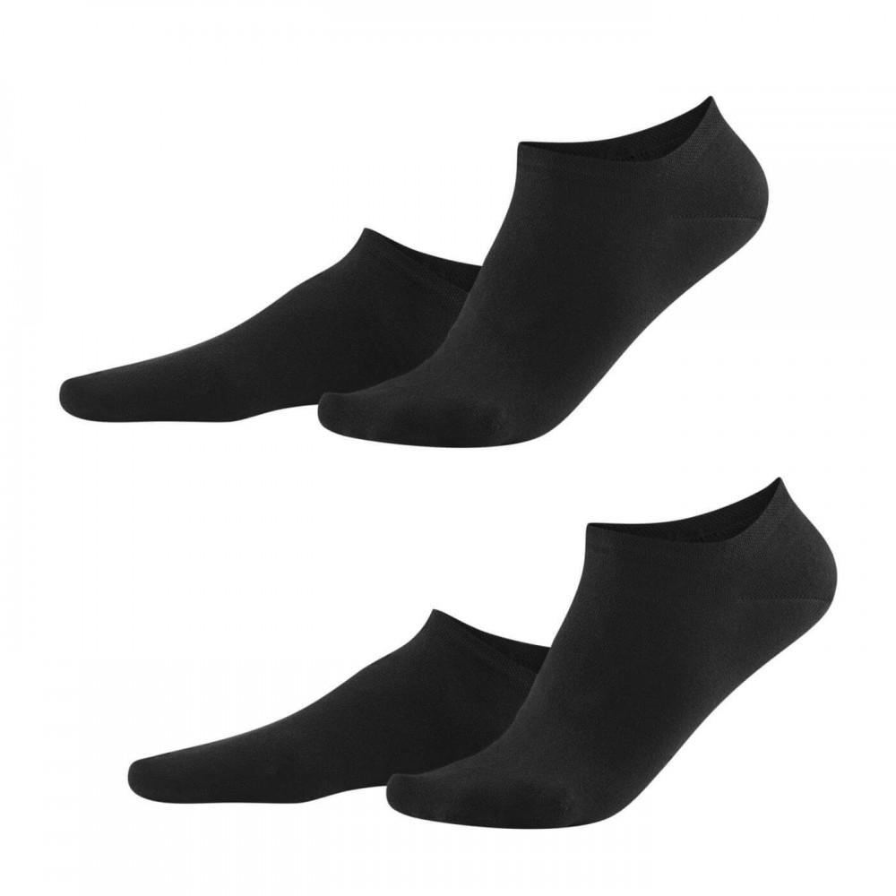 Living Crafts - 2-pak sneakers strømper - dame - sort