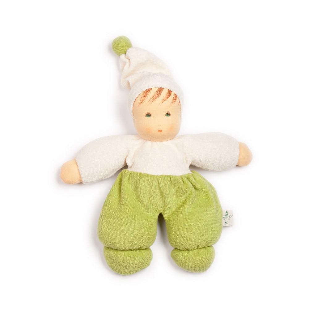 Nanchen - dukke 30 cm. - grøn