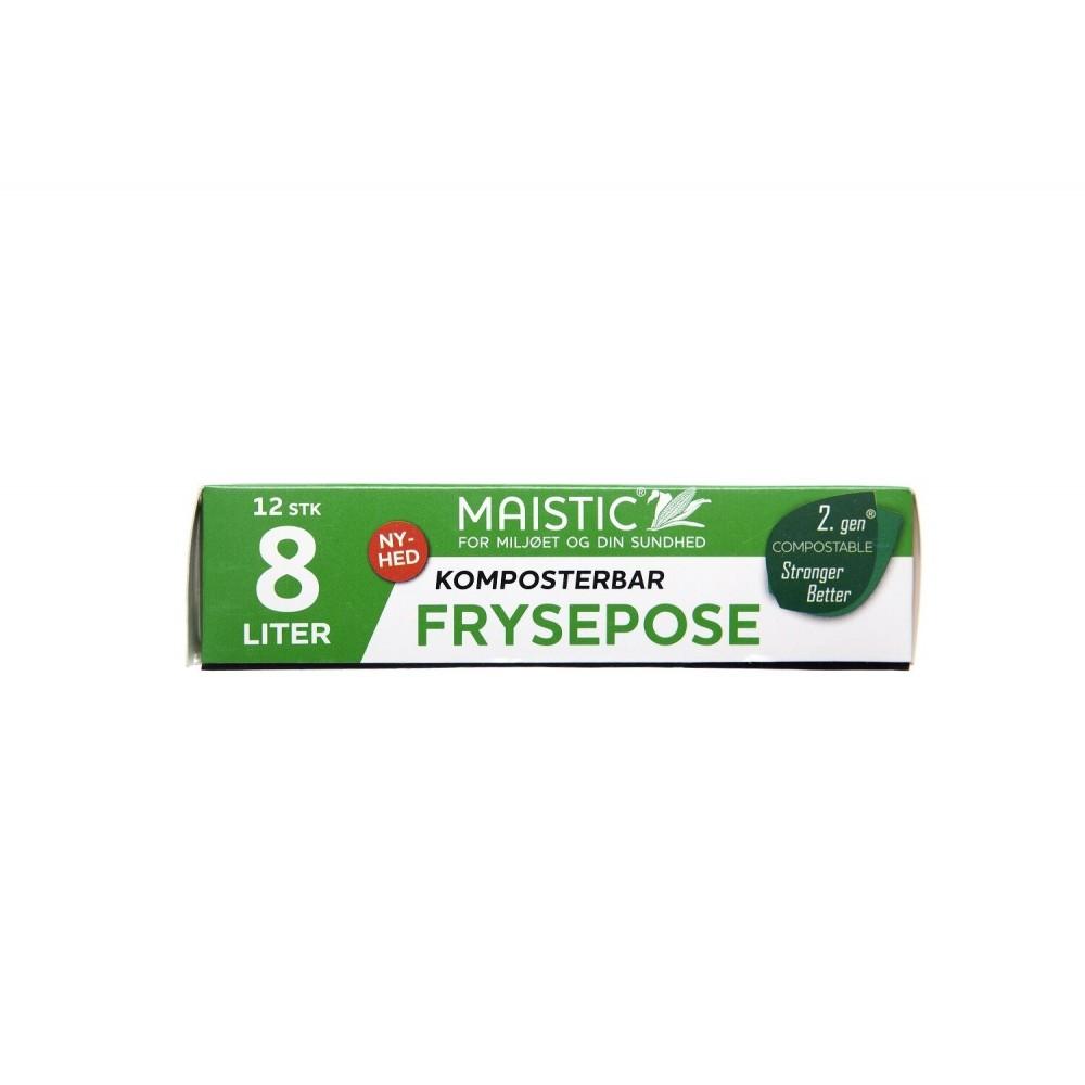 Maistic Bio Group - plastfri frysepose - 8 liter - 12 stk.