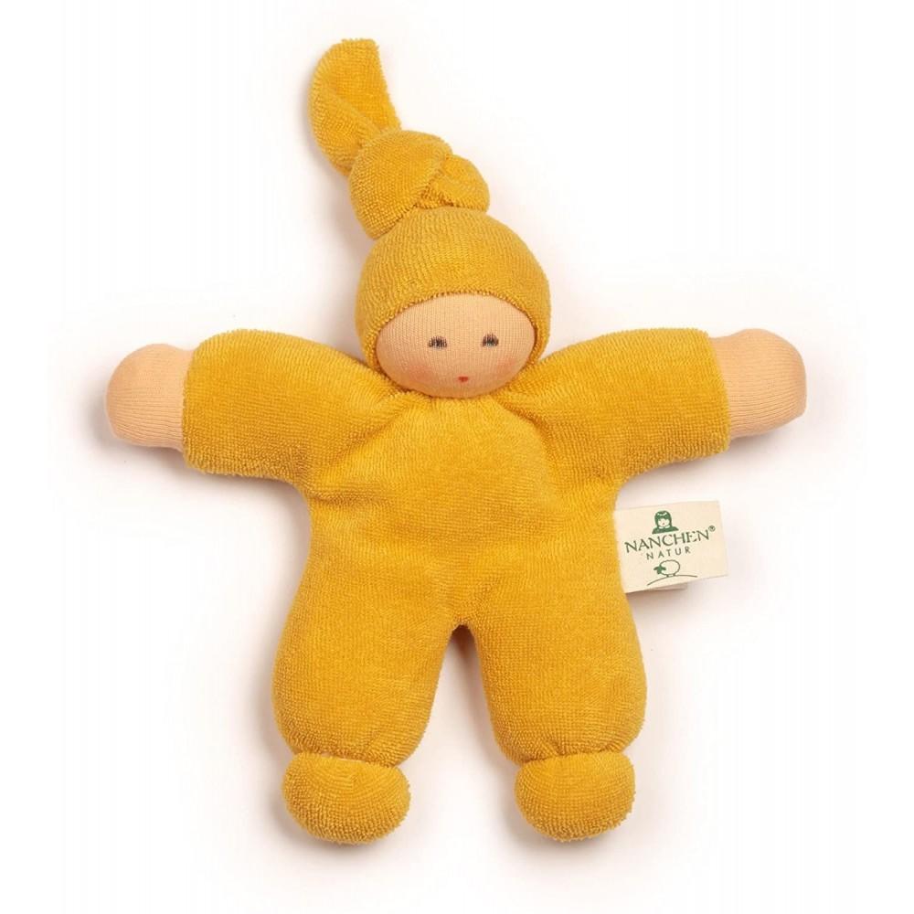 Nanchen - dukke 17 cm. - gul